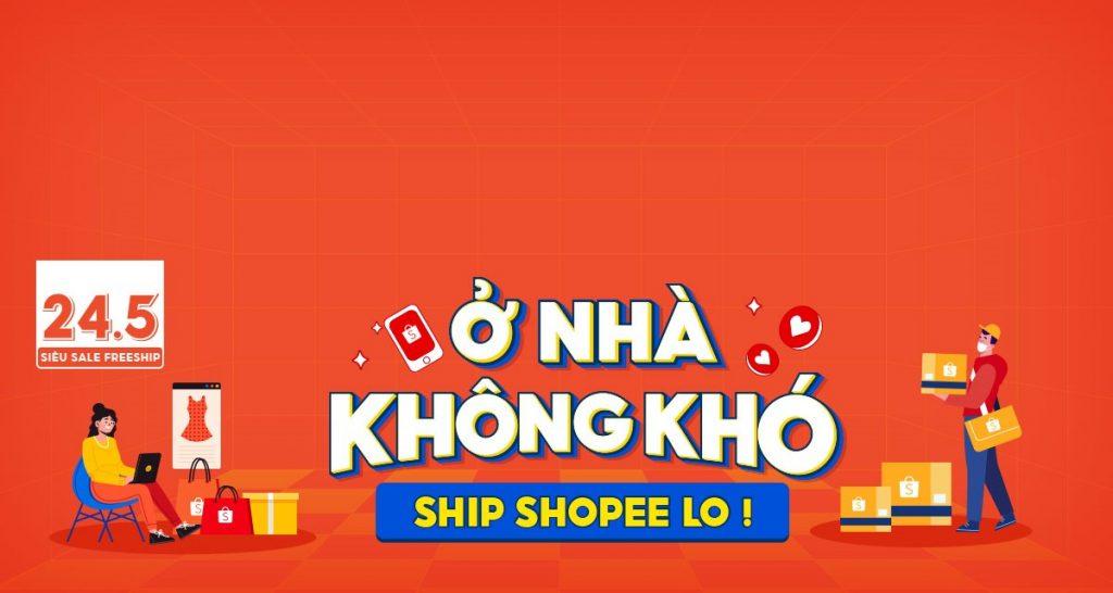 Website thương mại điện tử shoppee