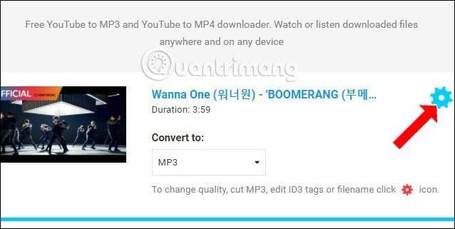 Trang web tải mp3 từ youtube 10 Convert